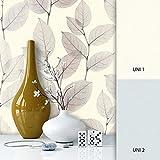 NEWROOM Blumentapete Grau Vliestapete Metallic Weiß Floral,Modern,Natur,Struktur schöne moderne und edle Design Optik, inklusive Tapezier Ratgeber