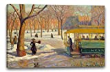 Printed Paintings Leinwand (120x80cm): William James Glackens - der grüne Eisenbahnwagen
