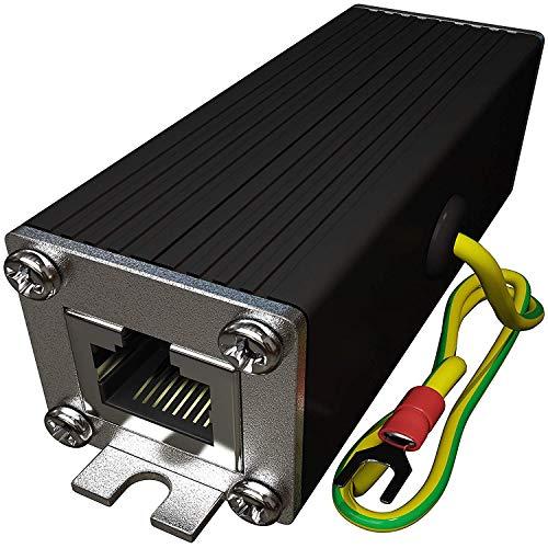 Tupavco TP302 Ethernet Überspannungsschutz PoE+ Gigabit GDT für Überstrom Schutz -Blitzschutz RJ45 Protektoren -LAN Netzwerk Kabel Blitzableiter -Ethernet Surge Protector