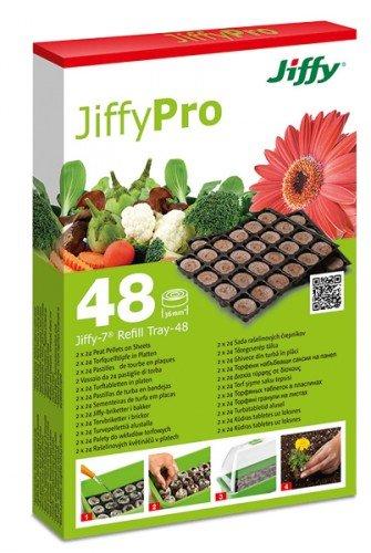 JIFFY nachfüllplatten pour zimmergewächshaus lot de 48