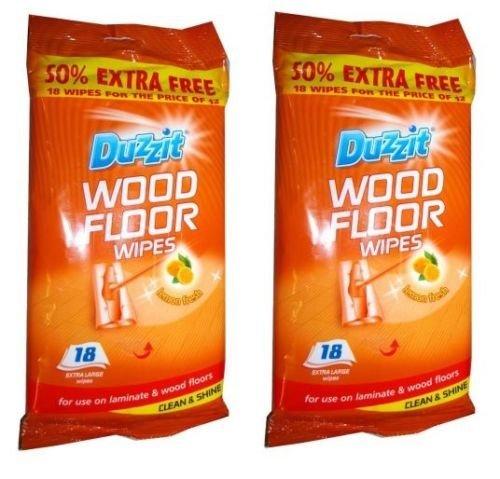 2-x-18-duzzit-laminado-suelos-de-madera-extra-grande-toallitas-limpia-y-brillo-limon-fresco