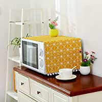 Binghotfire Microwave Dust Proof Cover Microwave Oven Hood Home Decor Microwave Towel yellow