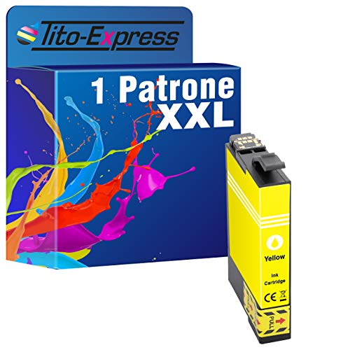 tito-express platinumserie-Cartucce d' inchiostro XL compatibili con Epson 29X L te2991-te2994, Expression Home XP-335xp-330Series (6) 1 unità - giallo