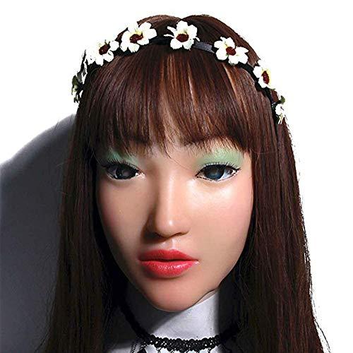 Kostüm Königin Göttin - Cosplay Handmade Make-up Weibliche Kopfmaske Perücke Weibliche Kopfbedeckung Maskerade Für Göttin Gesicht Halloween