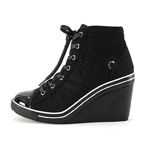 Compensées Baskets Heels Platform Sneakers High Top Bottines Chaussures GagHolly MADE IN KOREA