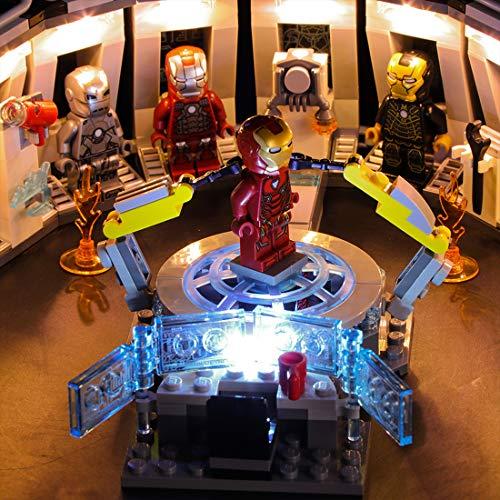 Seciie Licht-Set LED Licht Beleuchtung Kit für Lego Iron Man's Mech Display 76125 (Modell Nicht Enthalten) - Mech-modell-kit