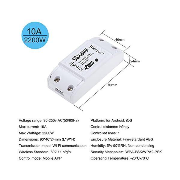 Festnight-SONOFF-Smart-switch-Wifi-Timer-10A-2200W-AndroidIOS-Controllo-APP-Funziona-con-Alexa-per-Google-Home-Universale