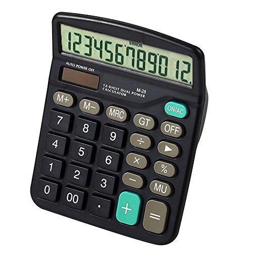 Taschenrechner,BEETEST Standard-Funktion 12 Dual-Powered Handheld-Taschenrechner für Home Office School Business Desktop-Rechner