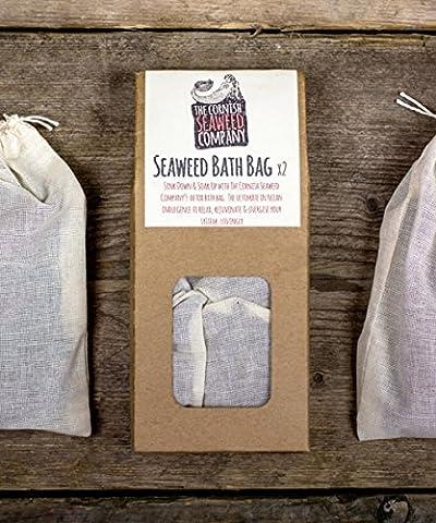 Organic Cornish Seaweed 2x natural Seaweed Detox Bath Bags