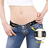 KOBWA Fashion Men Women Buckle-Free Stretch Elastic Belt, Invisible Belts for Jeans Without Buckle