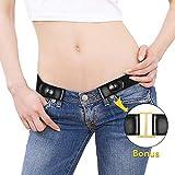 KOBWA Mode Homme Femme Buckle-Free Stretch Ceinture élastique, Bandes Invisible pour Jeans sans Boucle