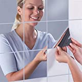Maybesky Spiegeleffekt Wandaufkleber Rechteck Selbstklebend Room Decor Stick On Art Silber (50 * 100 cm / 50 * 200 cm) (Größe : 50cm*100cm)