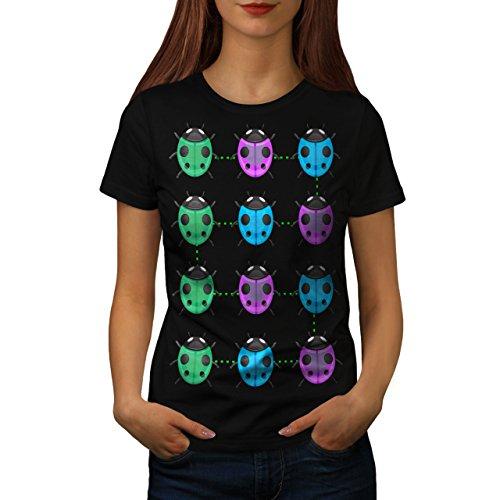 plusieurs-coccinelle-coccinelle-femme-nouveau-noir-l-t-shirt-wellcoda