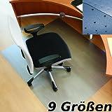 RS Office Products Roll-o-Mat Bodenschutzmatte aus Makrolon® für Teppichböden, Form O, 120 x 130 cm, TÜV-Siegel + Umweltzeichen