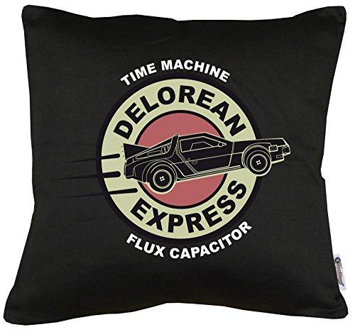 TLM Delorean Express DMC-12 Kissen mit Füllung 40x40cm (Kostüm Express Zurück)