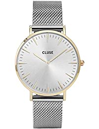 Cluse Damen-Armbanduhr Analog Quarz Edelstahl CL18115
