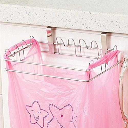 Warooms - supporto per sacco della spazzatura, in acciaio inox, per porta e armadi