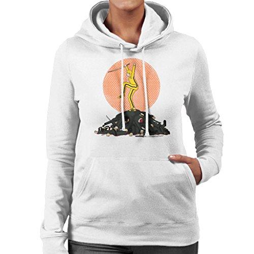 Karate Bill Kill Bill Karate Kid Womens Hooded Sweatshirt white
