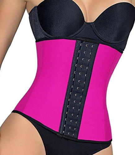 0b4ce06506d7a Miss Moly Women Waist Trainer Latex Belt Zipper Body Shaper Zip Corset  Girdle Slim Belt Pink M - Buy Online in UAE.