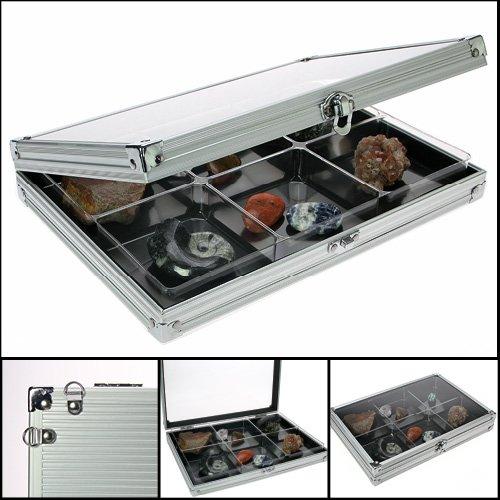 Safe 5615 Sammelvitrinen - Setzkasten ' COMPACT 6 ' mit 6 Fächern 87 x 90 mm - Ideal für Mineralien - Edelsteine - Miniaturen - Flacons