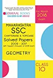 Oswaal Maharashtra SSC Chapterwise Solved Papers with Toppers Ans. Class 10 Geometry - 2018 Exam