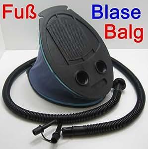 Fußblasebalg 3 versch. Ventile, Fuß Blase Balg Luft Matratze Wasser Ball Pumpe (LHS)