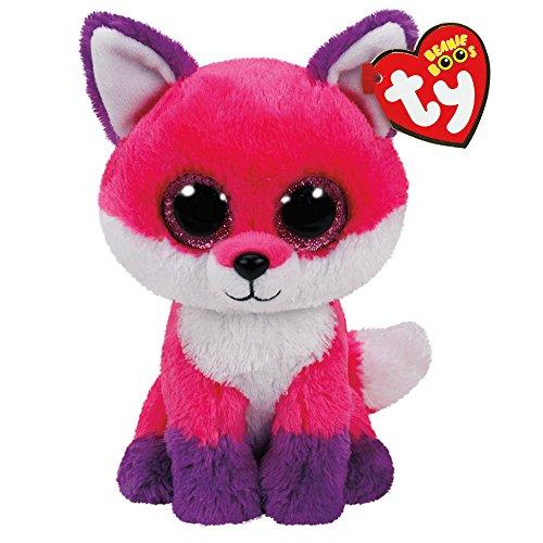"Beanie Boo Fox - Joey - Pink - 24cm 9"""