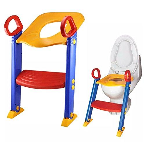 LOZ Baby Kind Kleinkind Töpfchen Training WC-Sitz Schritt, blau