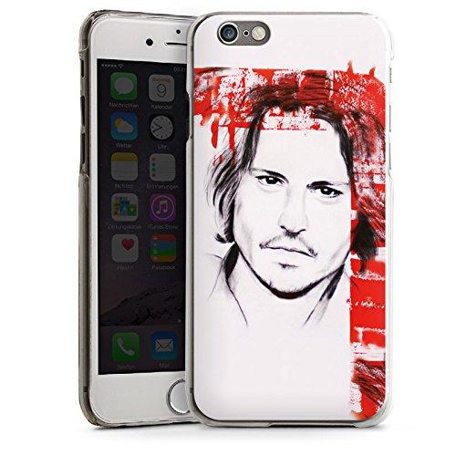 Apple iPhone 5 Housse Étui Protection Coque Johnny Depp Visage Dessin CasDur transparent