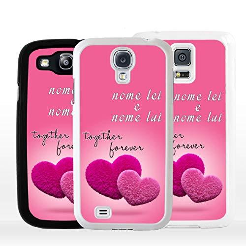 Geketto Store Cover Personalizzata San Valentino Per Samsung, Samsung Galaxy S3 Neo, Nero