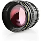 SainSonic Kamlan 50mm F1.1 APS-C Large Aperture Manual Focus Lens, Standard Prime Lens for Canon EOS-M Mount Mirrorless Camera