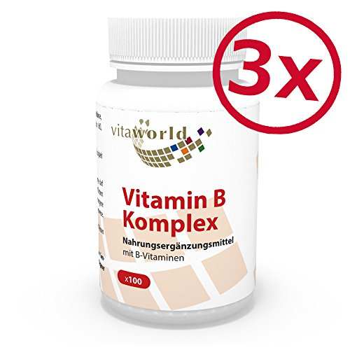 3er Pack Vita World Vitamin B Komplex 300 Kapseln Apotheken Herstellung