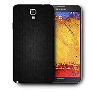 Snoogg Dark Black Floor Design Printed Protective Phone Back Case Cover For Samsung Galaxy NOTE 3 NEO / Note III
