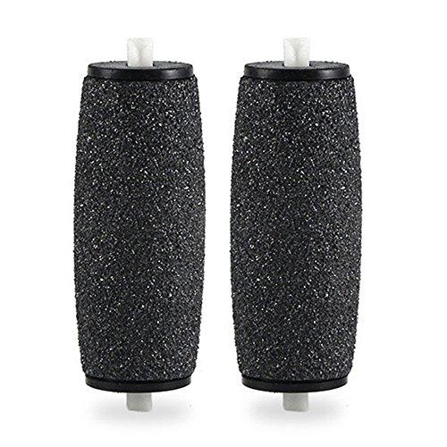 2 cabezales de recambio gruesos de rodillo para lima de pie de pedicura electrónica.