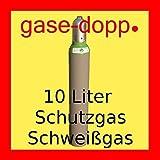 Mischgas Schutzgas 82 / 18 - Fabrikneue + gefüllte 10 Liter Schweißgasflasche zum MAG Schweißen TÜV bis 2025 - von Gase Dopp