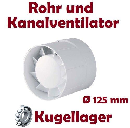 Rohrventilator Vents Rohrlüfter Einschublüfter Badlüfter 150 VKO Kugellager