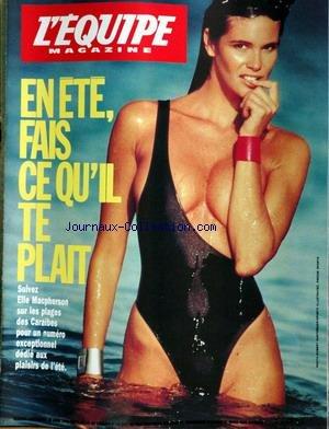 EQUIPE MAGAZINE (L') [No 449] du 28/04/1990 - ELLE MACPHERSON AUX CARAIBES
