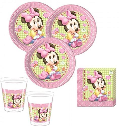 52 Teile Disney Baby Minnie Party Deko Set für 16 Personen