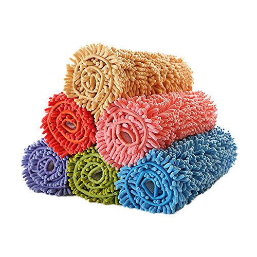 Felpudos de Baño microfibra Largo lana absorbente puerta antideslizan