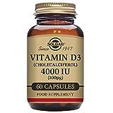 Solgar Vitamin D3 (Cholecalciferol) 4000 IU (100 µg) Vegetable Capsules - Pack of 60