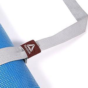 Reebok Yoga Mat Strap Yogamattengurt, grau, One Size