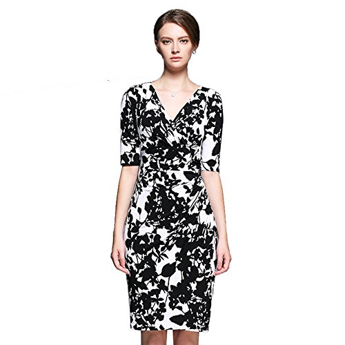 Sarah Dean Newyork - Robe - Robe - Femme noir Black With White Printed Black With White Printed