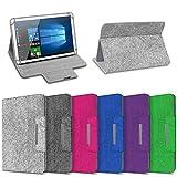 Tablet Schutz Hülle für 10 Zoll Filz Tasche Schutzhülle Case Cover Standfunktion, Tablet Modell für:ARCHOS 101c Platinum, Farbe:Pink