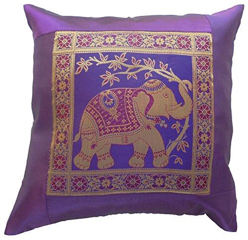 Diseño de elefante y flores de colour púrpura de la funda de...