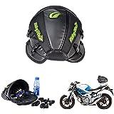 Bolsa multifuncional Katur para asiento trasero de motocicleta, de piel sintética, resistente al agua, color negro