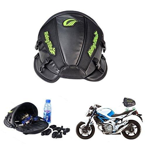 Bolsa multifuncional Katur para asiento trasero de motocicleta, de piel sintética, resistente...