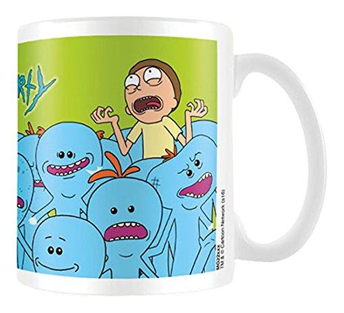 """Rick y Morty """"SR. meeseeks"""" taza de cerámica, multicolor"""