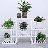 HWF Blumenregal/Blumenständer Flower Rack / Multilayer Holz Blumenständer / Dekorative Display Stand / Moderne Minimalist / Home Garten Terrasse / Indoor Outdoor Blume Patio-Display (2 Farben) ( Farbe : B )