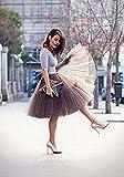 SCFL Adult Ballet Tutu Layered Organza Lace Mini Skirt Womens Princess Petticoat For Prom Party