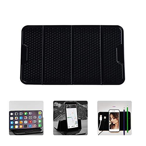 Lucky-all star Universal Car Center Konsole Handyhalter Ständer Aufkleber, Multifunktions Nano Gummi Pad Kompatibel für iPhone Handys Montieren Autohalterung Unterstützung -